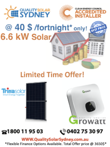 6.6 kW FB Offer Quality Solar Sydney